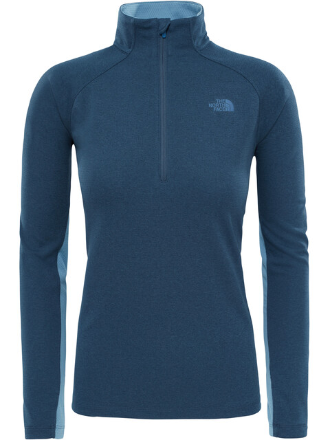 The North Face W's Ambition 1/4 Zip Long Sleeve Shirt Ink Blue Heather/Provincial Blue